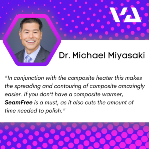 """In conjunction with the composite heater this makes the spreading and contouring of composite amazingly easier. If you don't have a composite warmer, SeamFree is a must, as it also cuts the amount of time needed to polish."""