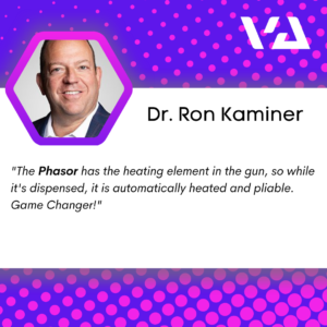 """""""The Phasor has the heating element in the gun, so while it's dispensed, it is automatically heated and pliable. Game Changer!"""""""